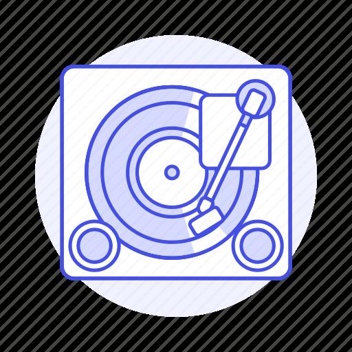 3, audio, disc, music, players, retro, turntable, vintage, vinyl icon