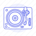 audio, disc, music, players, retro, turntable, vintage, vinyl icon