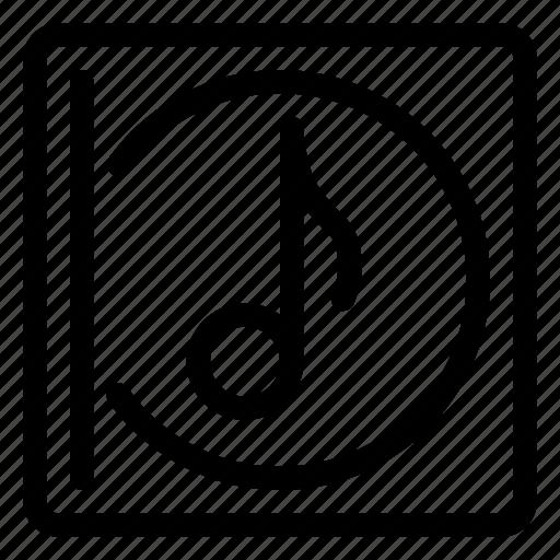 album, audio, cd, disc, multimedia, music, note icon