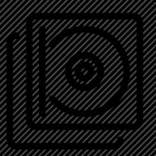 album, audio, multimedia, music, stack icon