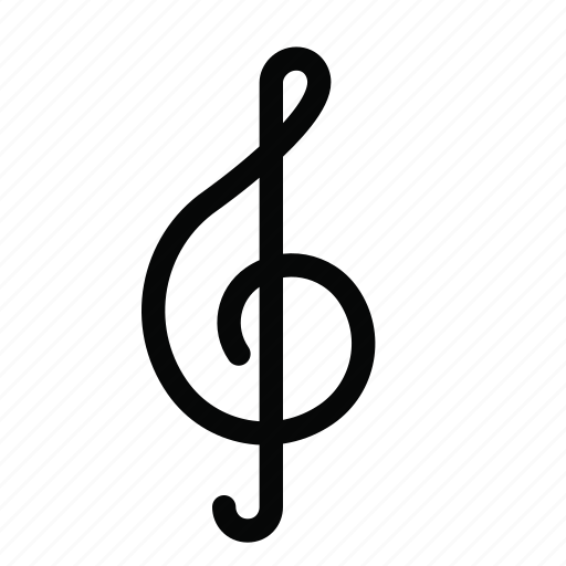Audio, clef, multimedia, music, note, treble icon - Download on Iconfinder
