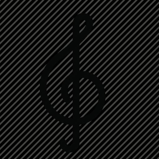 audio, clef, multimedia, music, note, treble icon