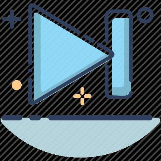 audio, line filled, music, next, next icon, sound, video icon