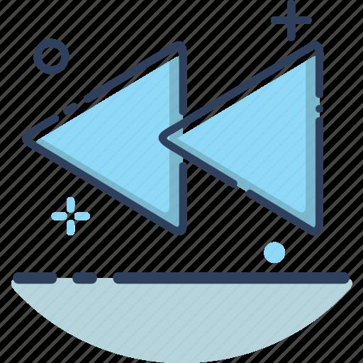 audio, film, movie, music, rewind, rewind icon, video icon