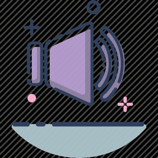 audio, line filled, music, sound, sound icon, video, volume icon