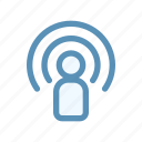 audio, interface, podcast, radio, signal, ui, video icon
