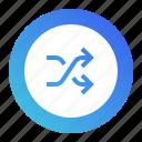 arrow, arrows, audio, media, multimedia, shuffle, sound