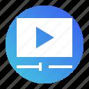 clip, media, multimedia, play, video icon