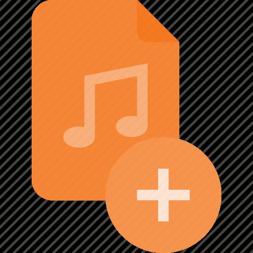 add, audio, file, music, sound icon