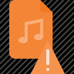 attention, audio, file, music, sound icon