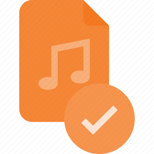 audio, check, file, music, sound icon