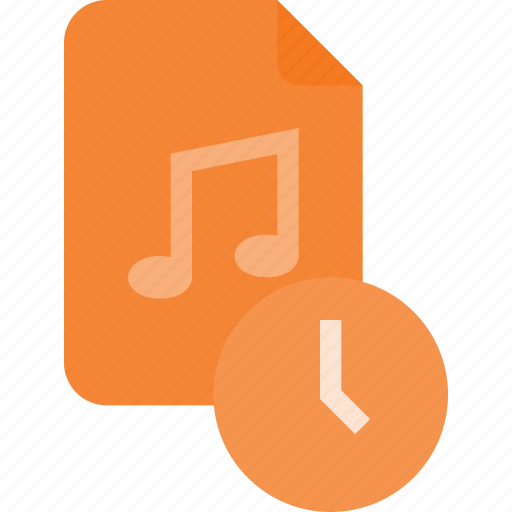 audio, file, music, sound, time icon