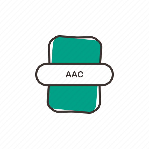 aac, audio file, file extension, multimedia icon