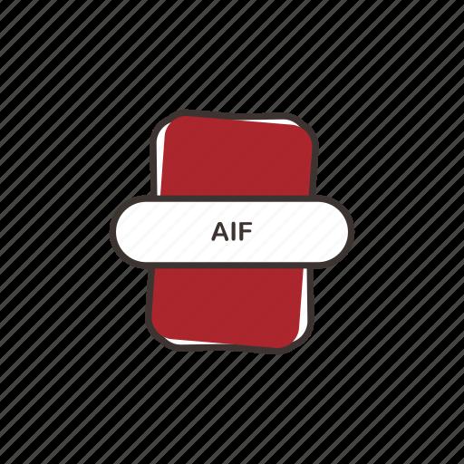 aif, audio file, file extension, multimedia icon