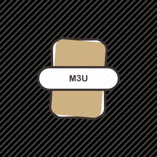 audio file, file extension, m3u, multimedia icon