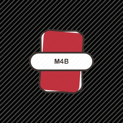 audio file, file extension, m4b, multimedia icon