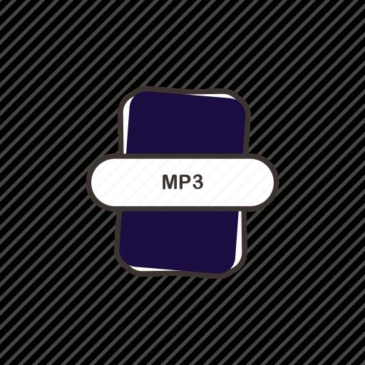audio file, file extension, mp3, multimedia icon