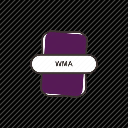 audio file, file extension, multimedia, wma icon