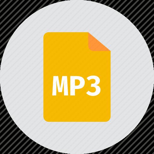 file, mp3 icon