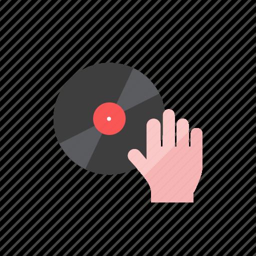 hand, record icon