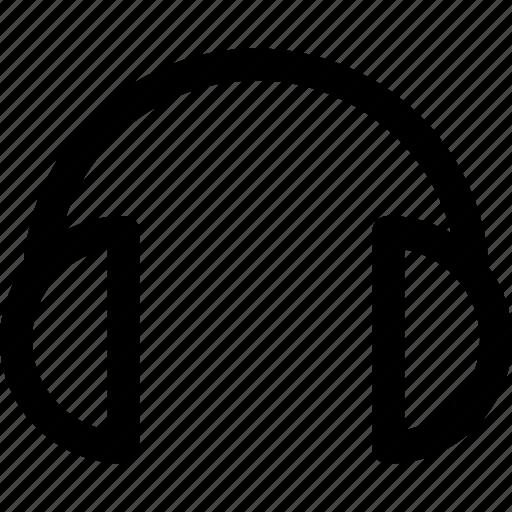 app, audio, headset, interface, music, sound, user icon