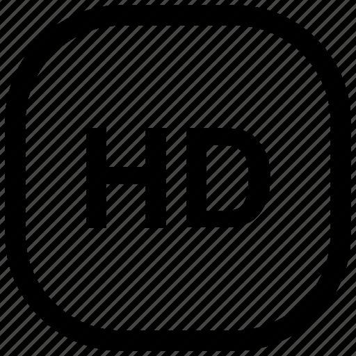 hd, media, type icon icon