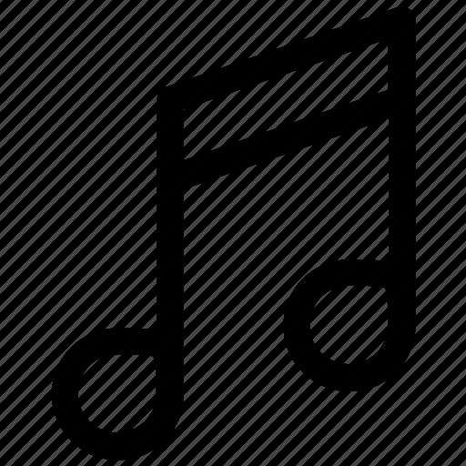 audio, music, note, sound icon icon