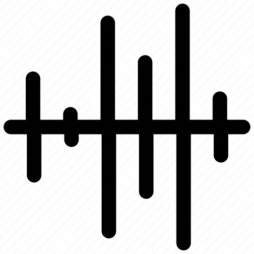audio, bass, equalizer, impulse, sound, volume, wave icon icon