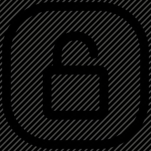 lock, open, unlock, unlocked icon icon