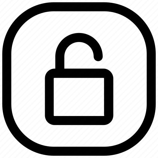 lock, open, unlock, unlocked icon icon