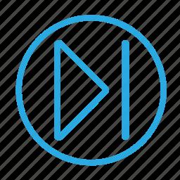 audio, back, multimedia, next, play, right, skip icon