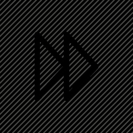 arrows, fast forward, forward, next icon