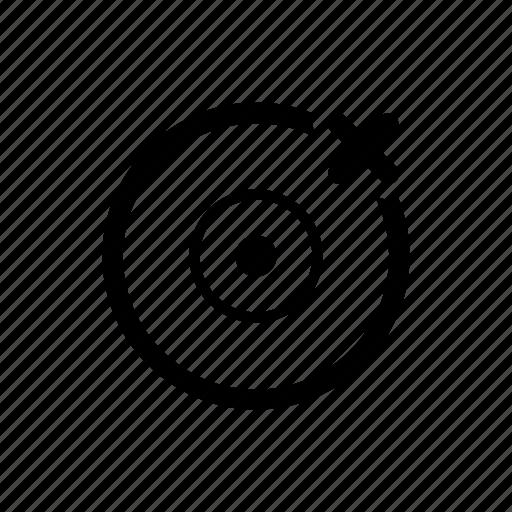 disc, disc error, not found icon