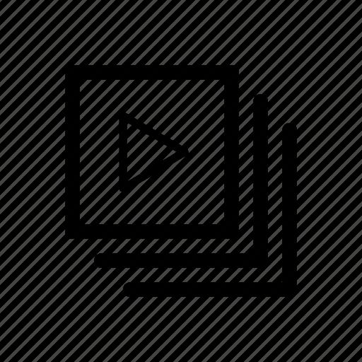 album, artist, audio, gallery, list, video icon