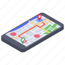 cartography, mobile gps, mobile navigation, navigation system, online map, virtual map icon
