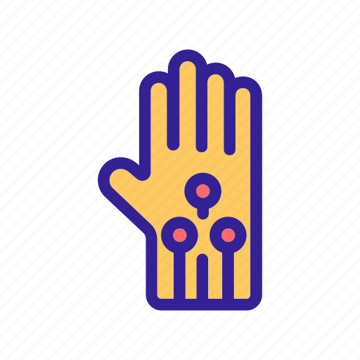 gloves, reality, sensors, virtual, vr icon