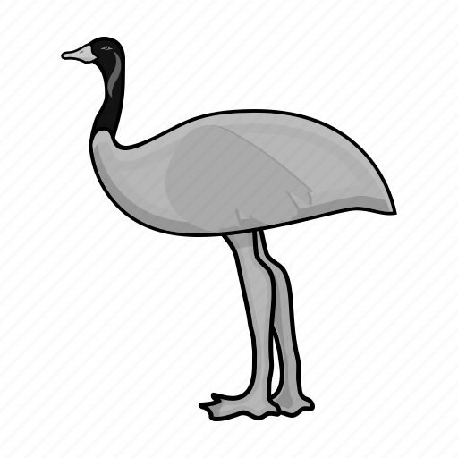 australia, bird, emu, nature, ostrich icon