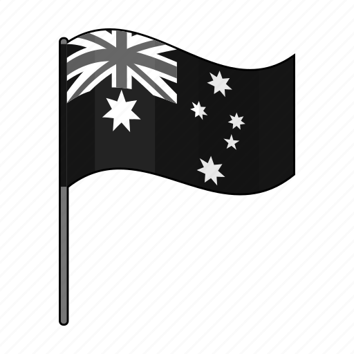 australian, country, flag, national icon