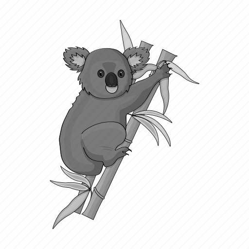 animal, bear, herbivore, koala, marsupial, wild, zoo icon