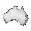 australia, continent, country, geography, location icon