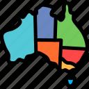 australia, maps, region, teritory icon