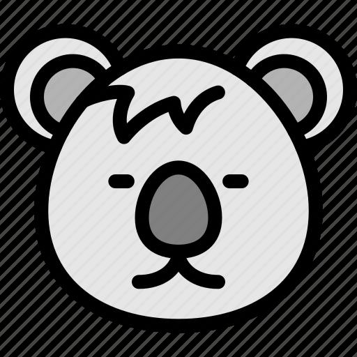 animal, australia, endemic, koala icon