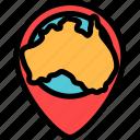australia, maps, pin, placeholder icon