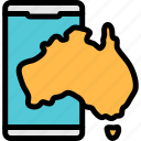 app, australia, maps, smartphone icon