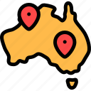 australia, location, maps, pin icon