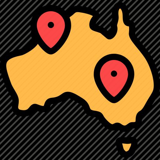 australia, location, maps, pin icon