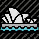 house, opera, opera house, sydney icon