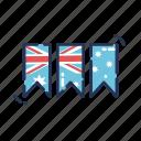 aussie, australia, australia day, australian, banner, bunting, flag icon