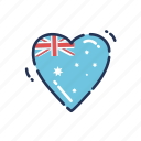 heart, australia, australian, day