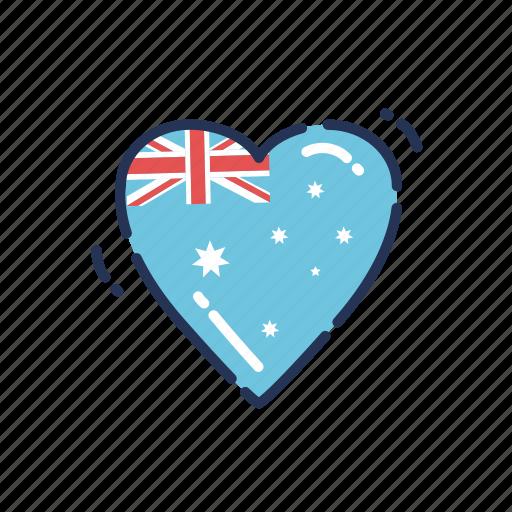 aus, aussie, australia, australia day, australian, heart, love icon